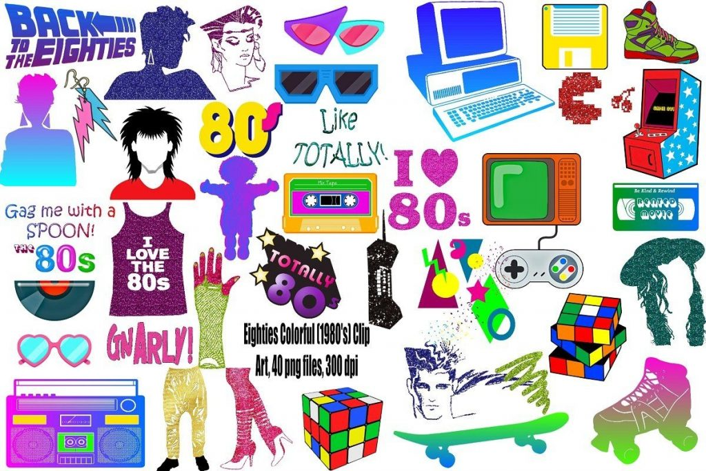 eighties colorful clip art creative sketches pencil