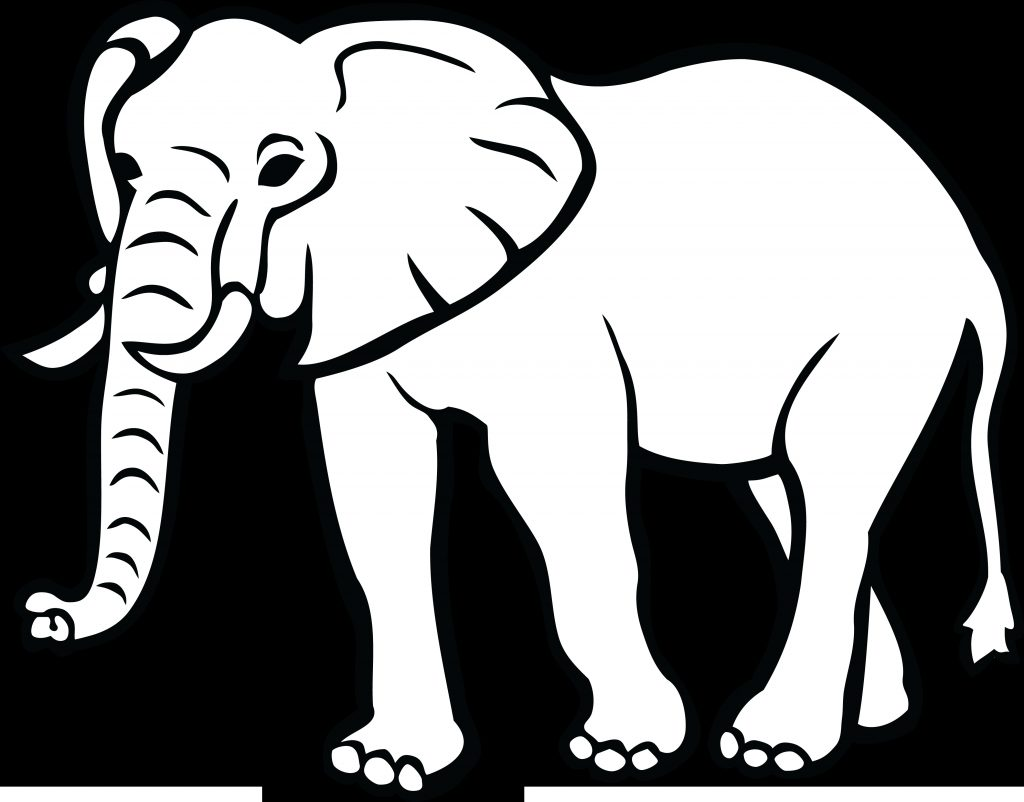 elephant black and white png free elephant black and white