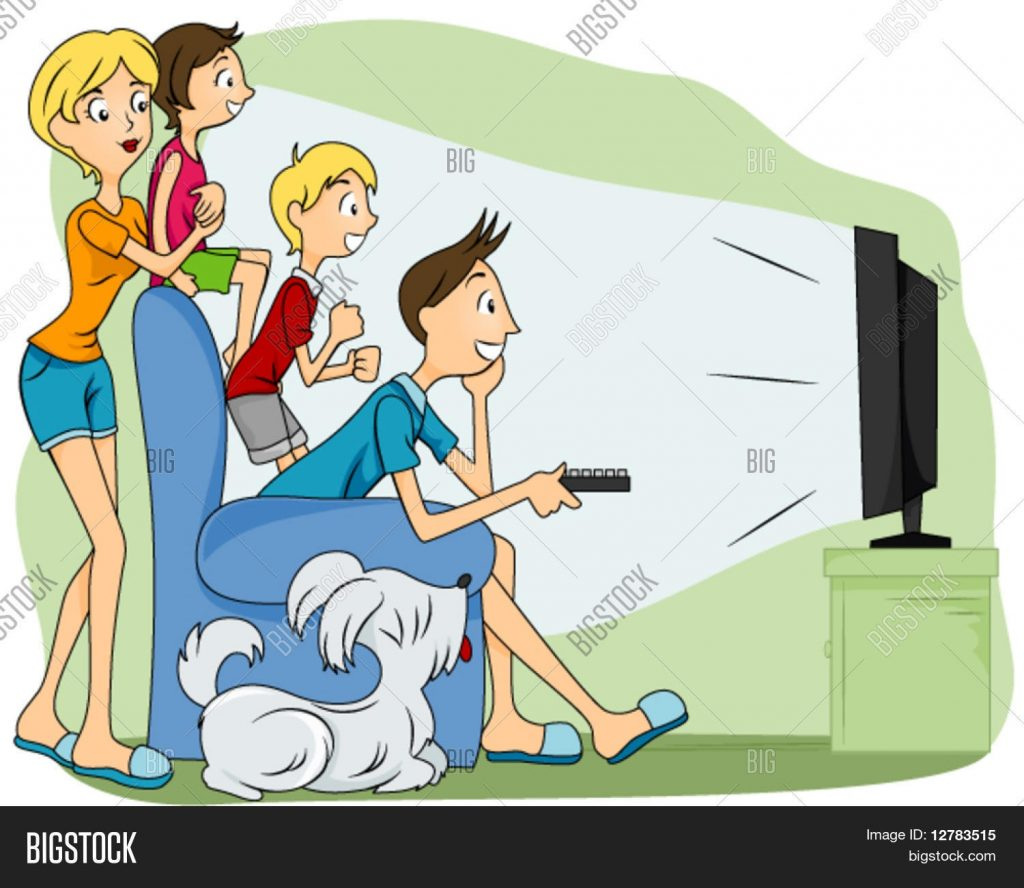 family watching tv vector photo free trial bigstock