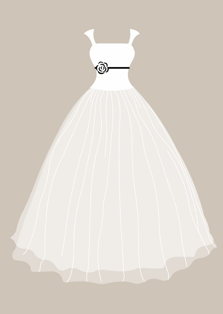 femaleweddingdresscartoon kmkm dress clipart