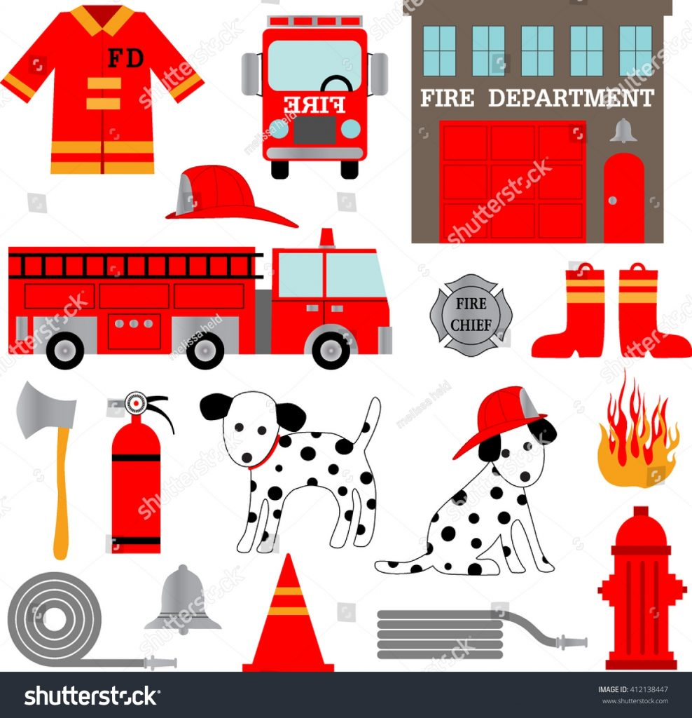 fire department clipart stock vector royalty free 412138447