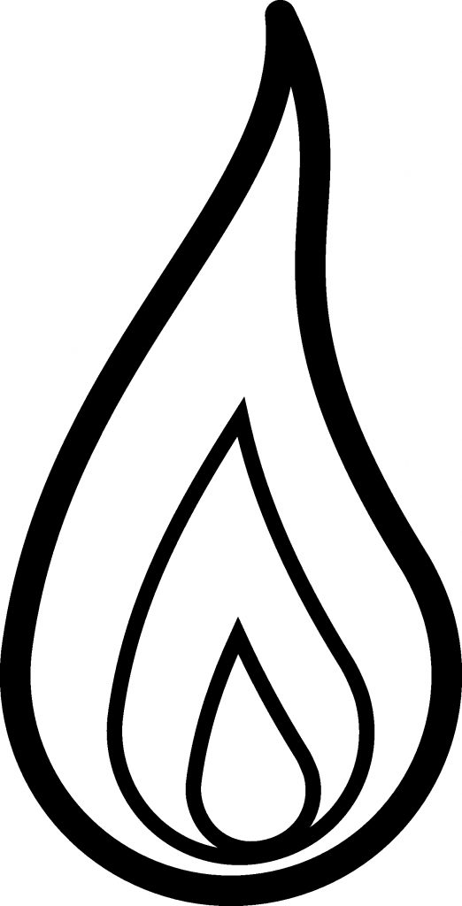 fire flames clipart black and white clipart panda free