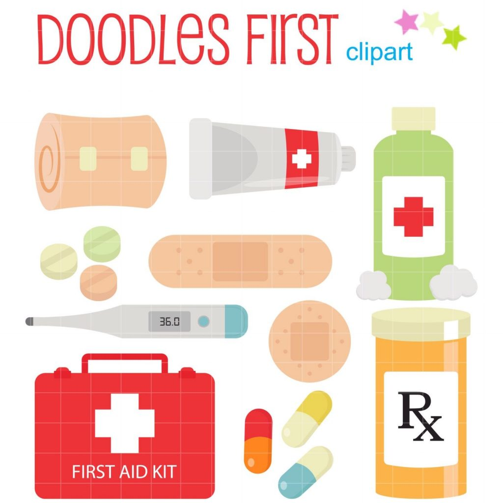 first aid kit digital clip art for scrapbooking card making