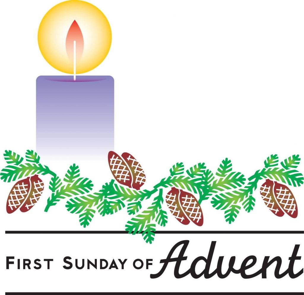 first sunday of advent candle clipart