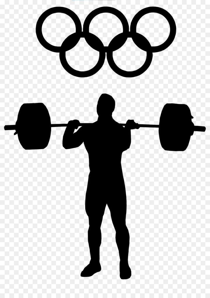 fitness cartoon clipart barbell exercise silhouette