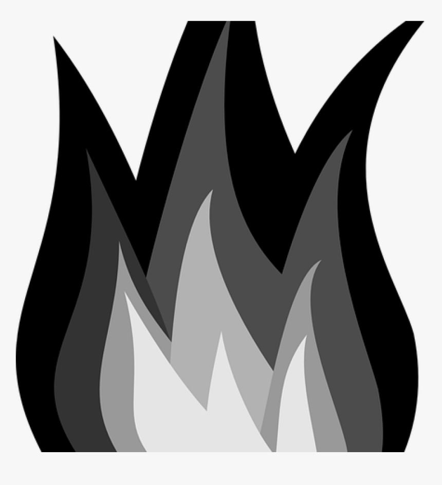 flame clipart black and white fire flames burn free hd png