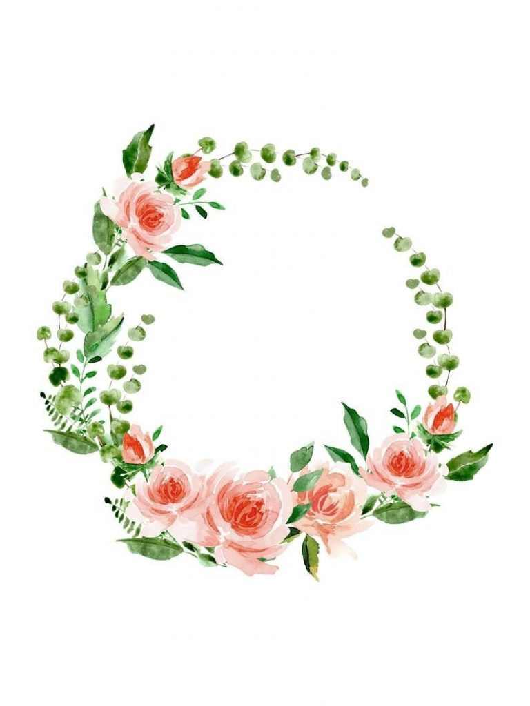 floral watercolor wreath clipart floral wreath png logo