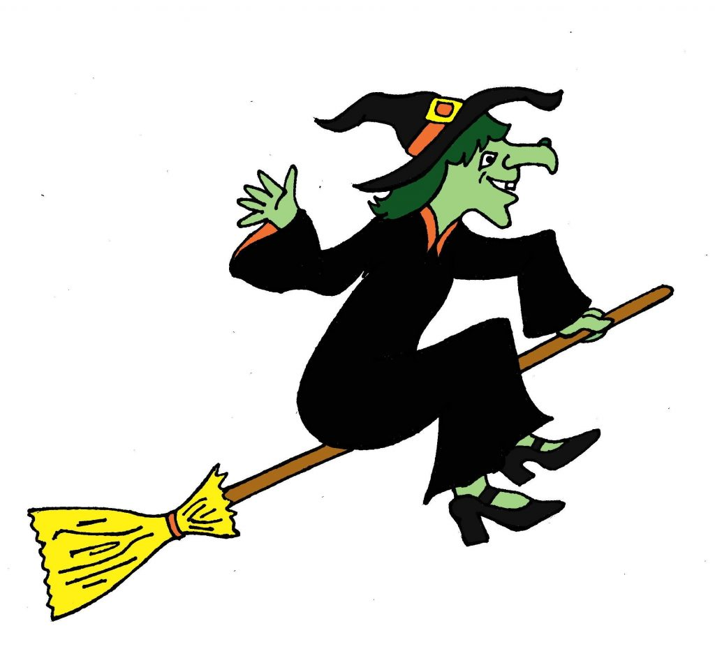 flying witch clipart halloween day witch clipart