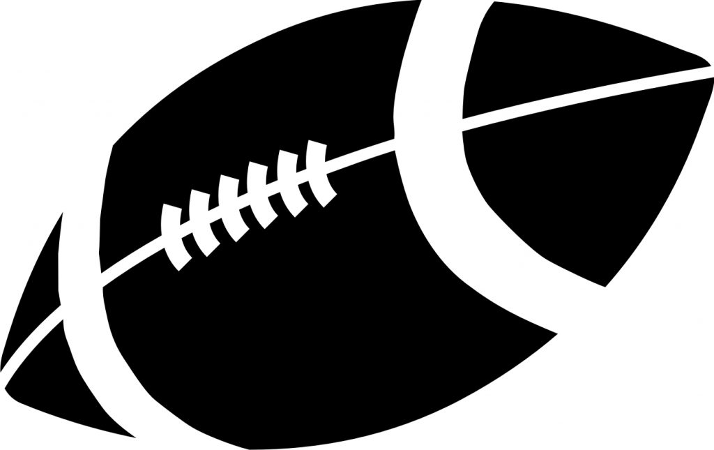 football black and white football clipart black and white