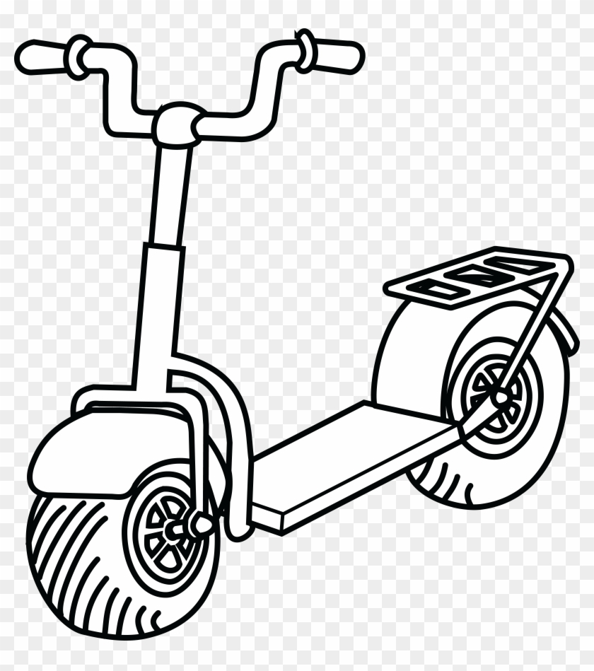 free clipart of a scooter scooter clipart black and white