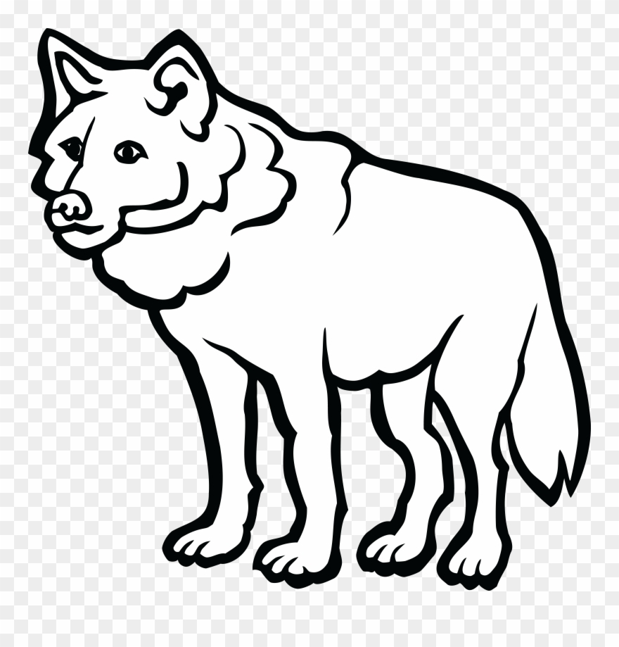 free clipart of a wolf clip art black and white wolf png