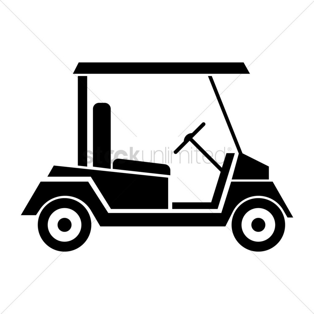 free golf cart vector image 1503398 stockunlimited