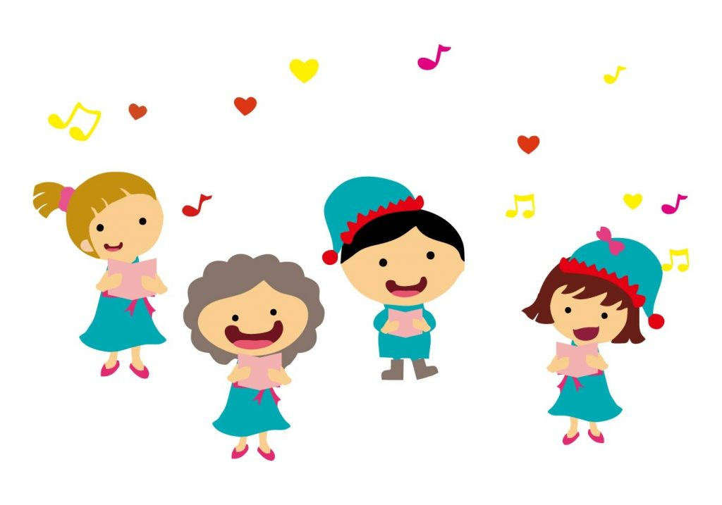 free kids singing carols vector download free vectors