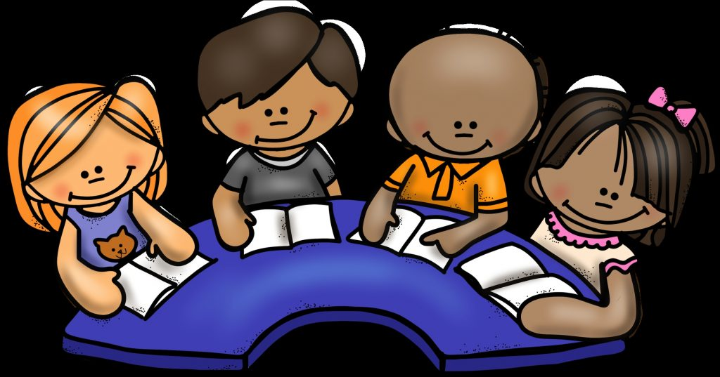 friendly clipart group child reading group clip art png