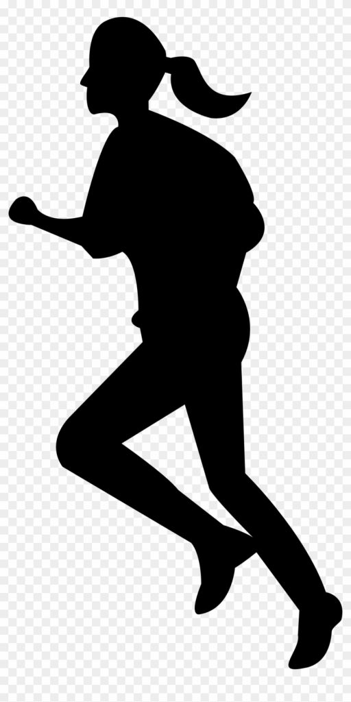 girls silhouette person running clipart rise girl