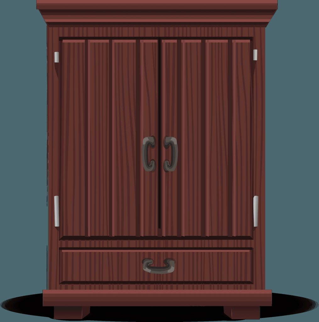 glitch simplified tall cabinet mahogany clipart free
