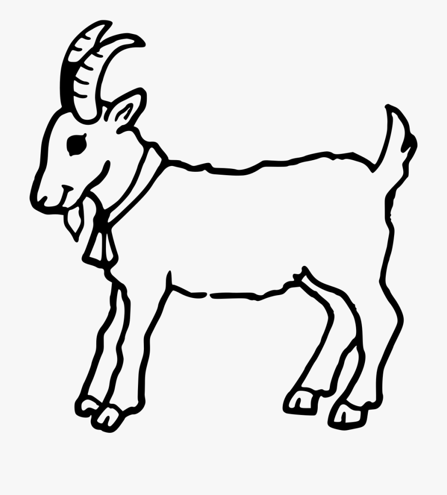 goat black and white goat clip art transparent cartoon