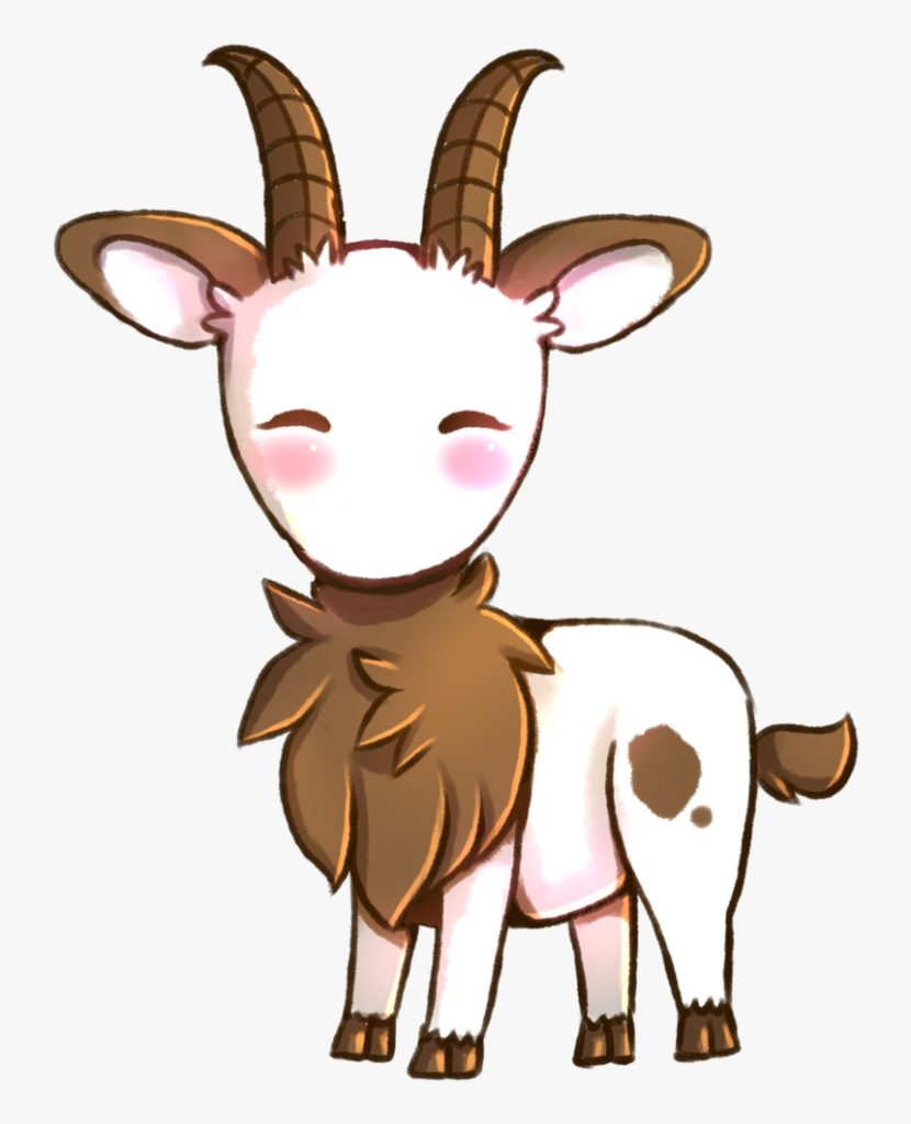 goats head clipart cute anime cute anime goat hd png