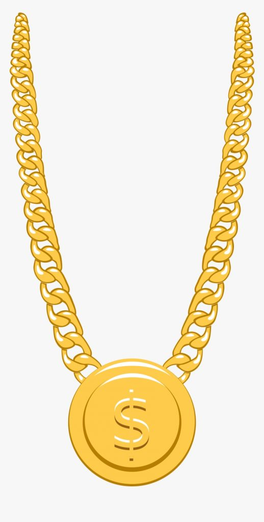gold chain with pendant sticker gold chain clipart png