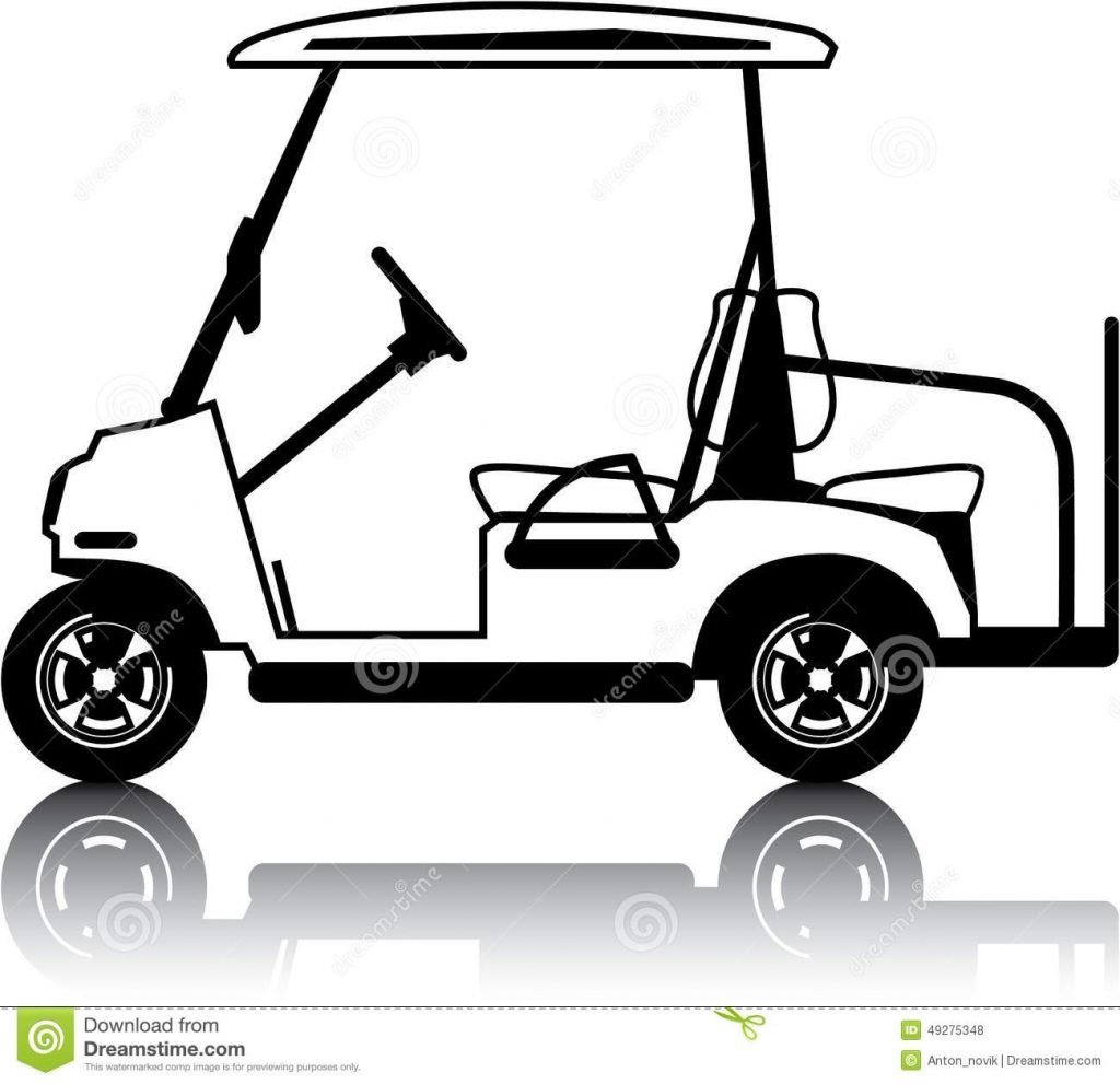 golf cart white stock vector illustration of golf auto