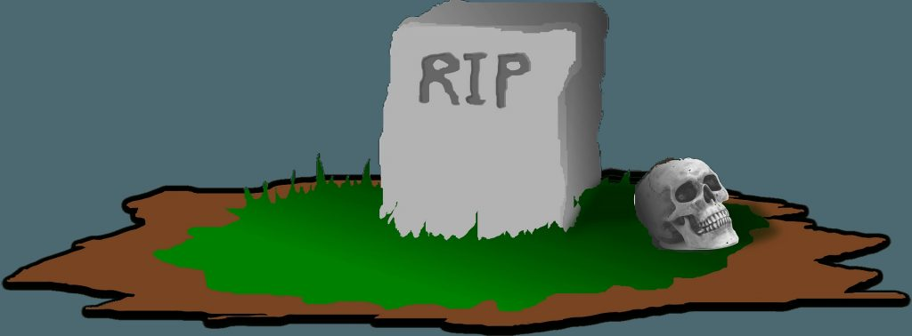 grave with rip on the headstone clipart free download