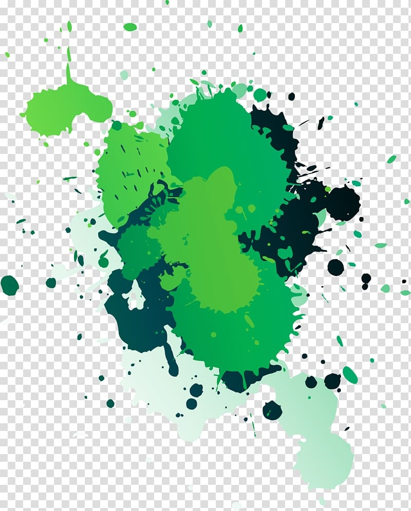 green paint splash art paint splatter transparent