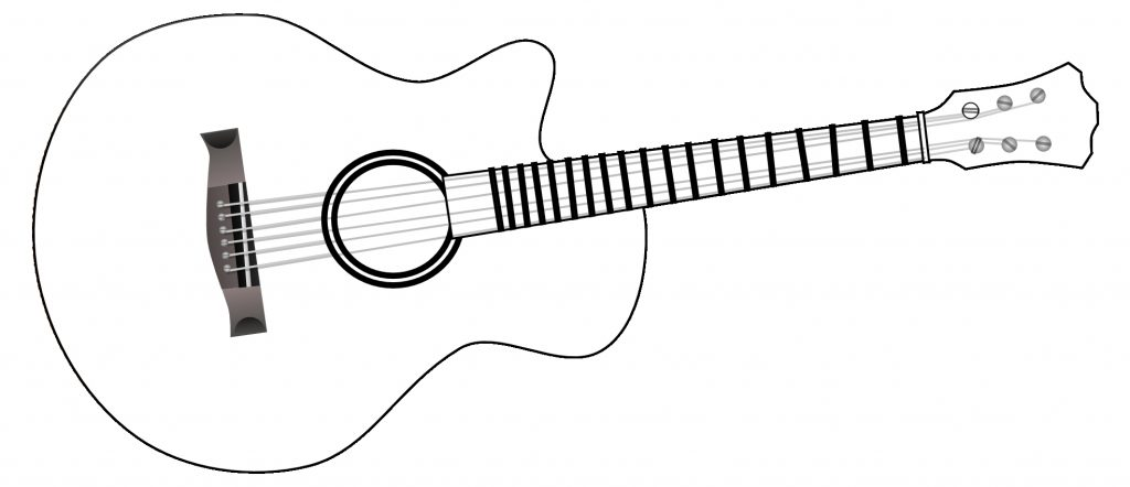 guitar black and white black and white acoustic guitar