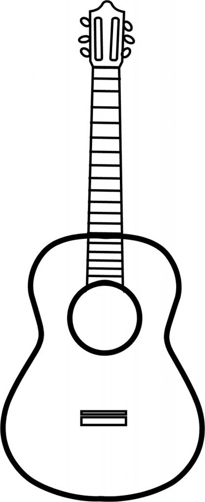 guitar black and white black and white cartoon guitar