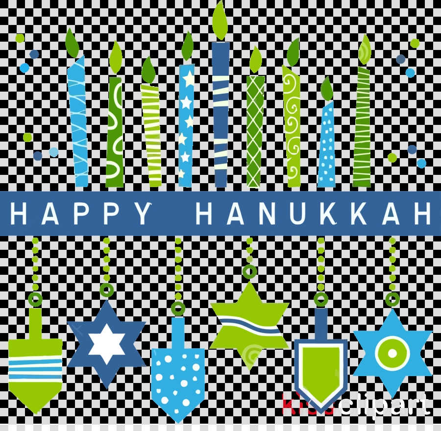 happy hanukkah hanukkah clipart green text line
