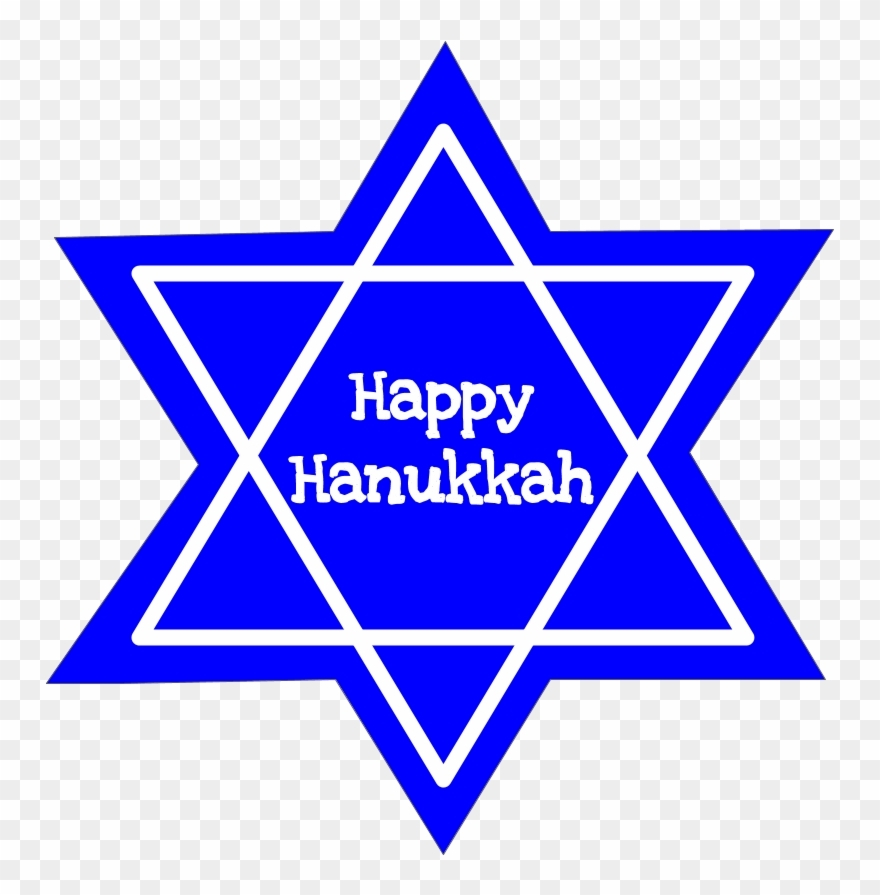 happy hanukkah star of david black and white david star