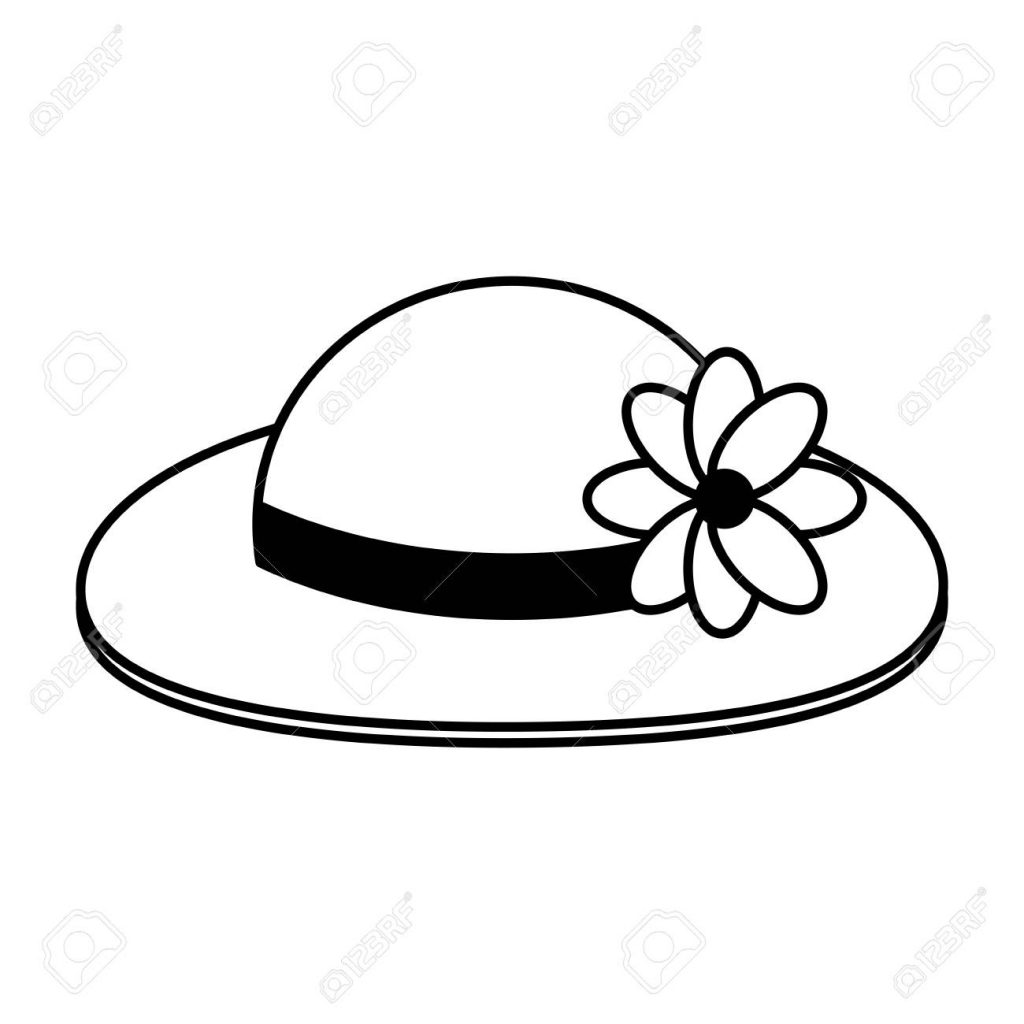 hat with flower adornment icon image vector illustration design