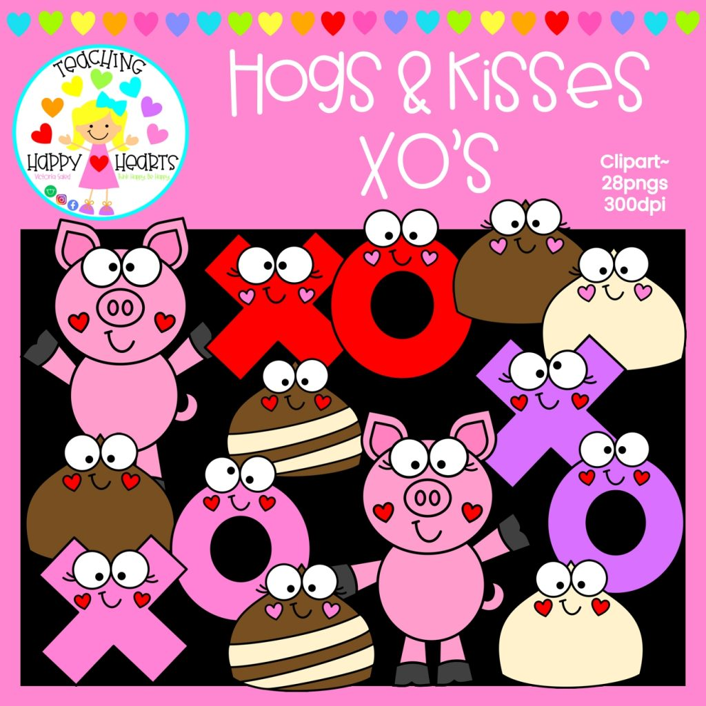 hogs kisses clipart in 2020 clip art valentine coloring