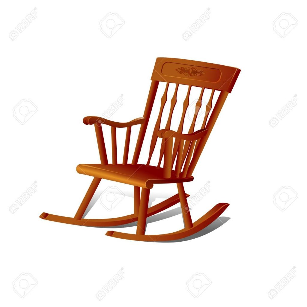 illustration of a rocking chair isolated on white background
