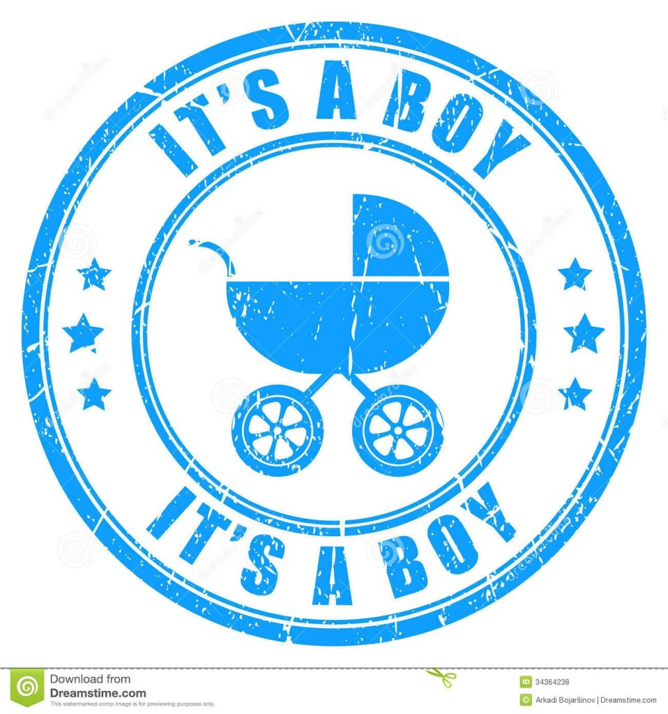 its a boy vector stamp stock vector illustration of sticker