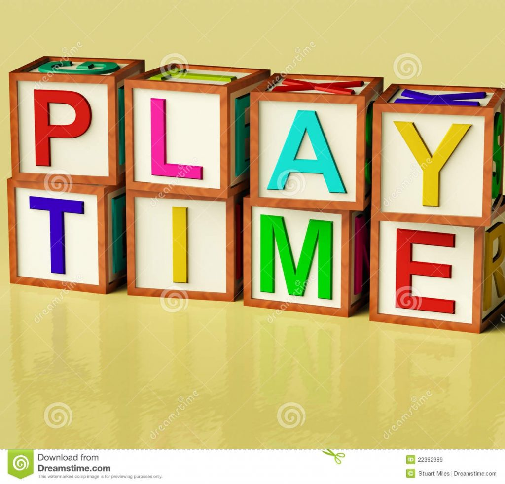 kids blocks spelling play time stock illustration