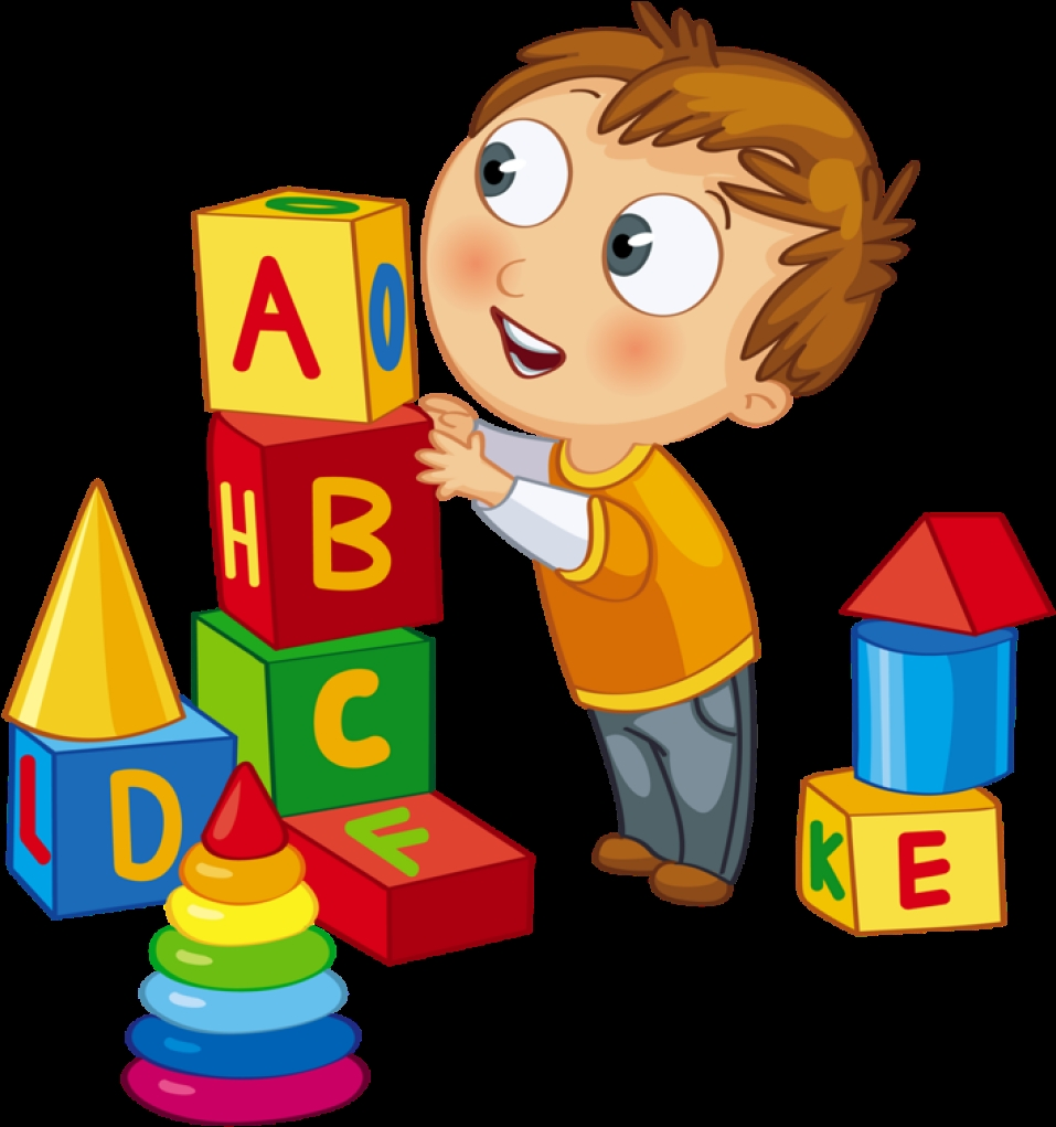 kids playing clipart clip art kid playing blocks clock