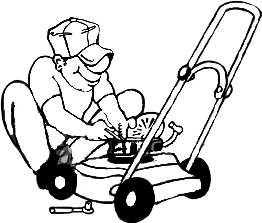 lawn mower gallery for goat clipart mower clipartix