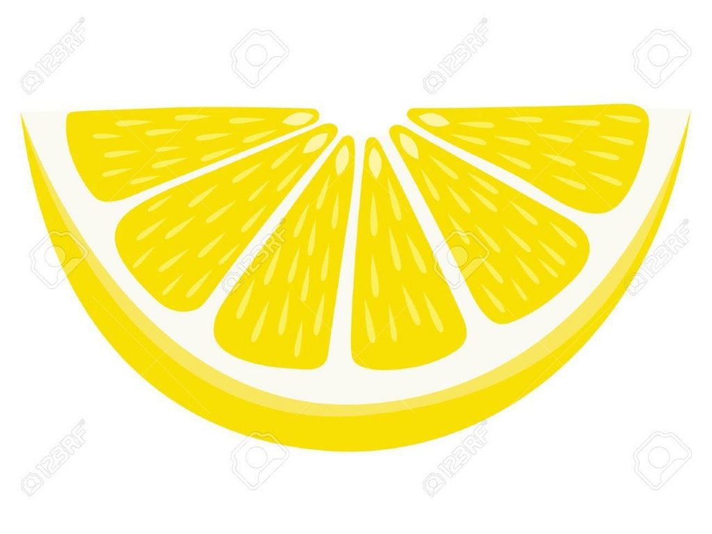 lemon wedge isolated