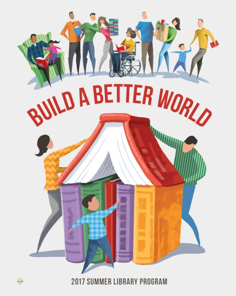 literacy clipart reading challenge build a better world