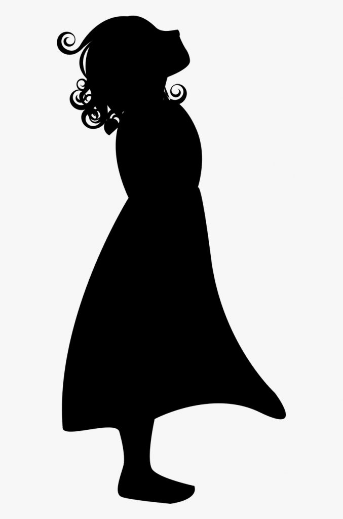 little girl shadow free transparent clipart clipartkey