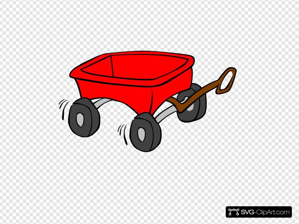 little red wagon svg vector little red wagon clip art svg