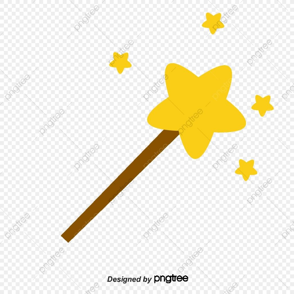 magic wand cartoon star png transparent clipart image and