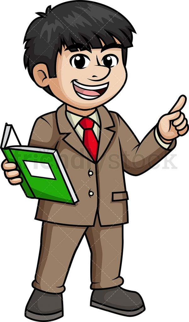 male asian teacher cartoon clipart vector friendlystock