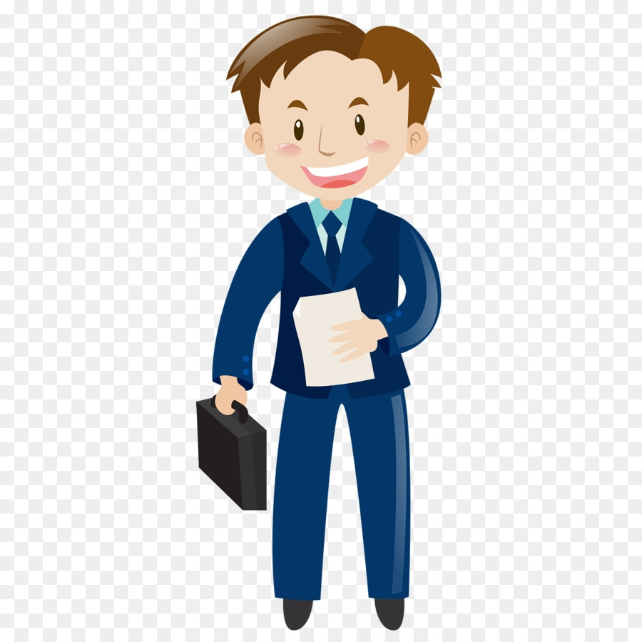 man cartoon clipart job illustration blue transparent