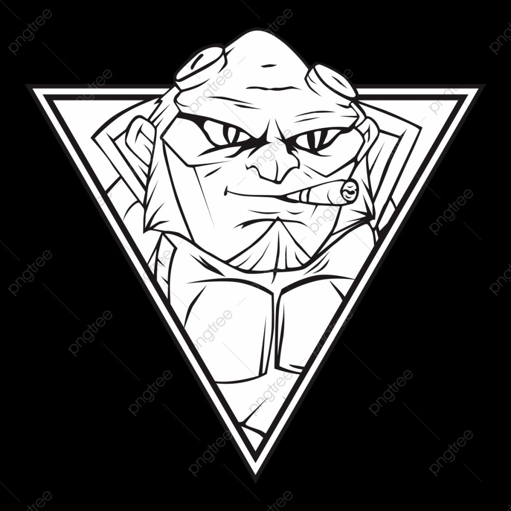man smoking black on white hand drawing vector devil red