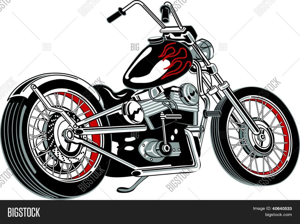 motorcycle clipart vector photo free trial bigstock