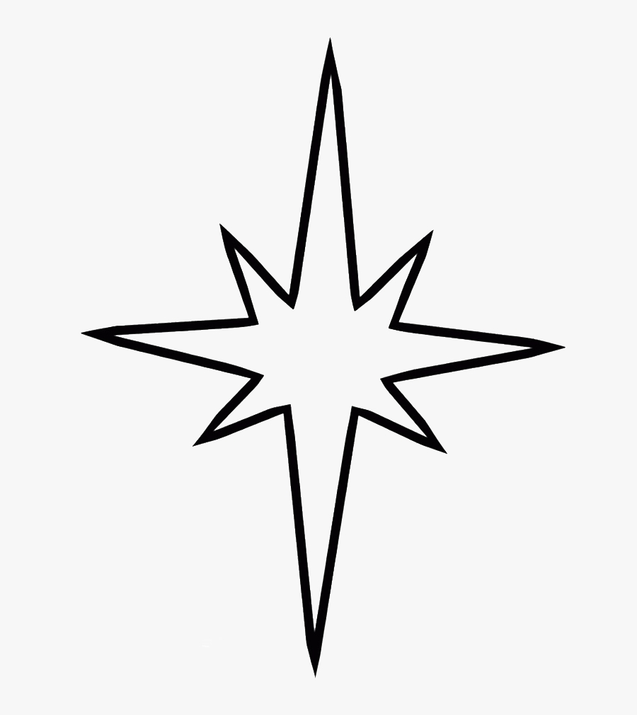 north star clipart nativity star coloring page free