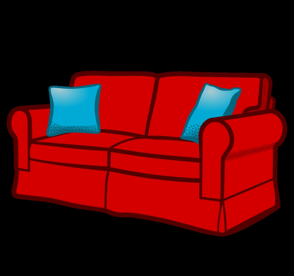 onlinelabels clip art sofa coloured