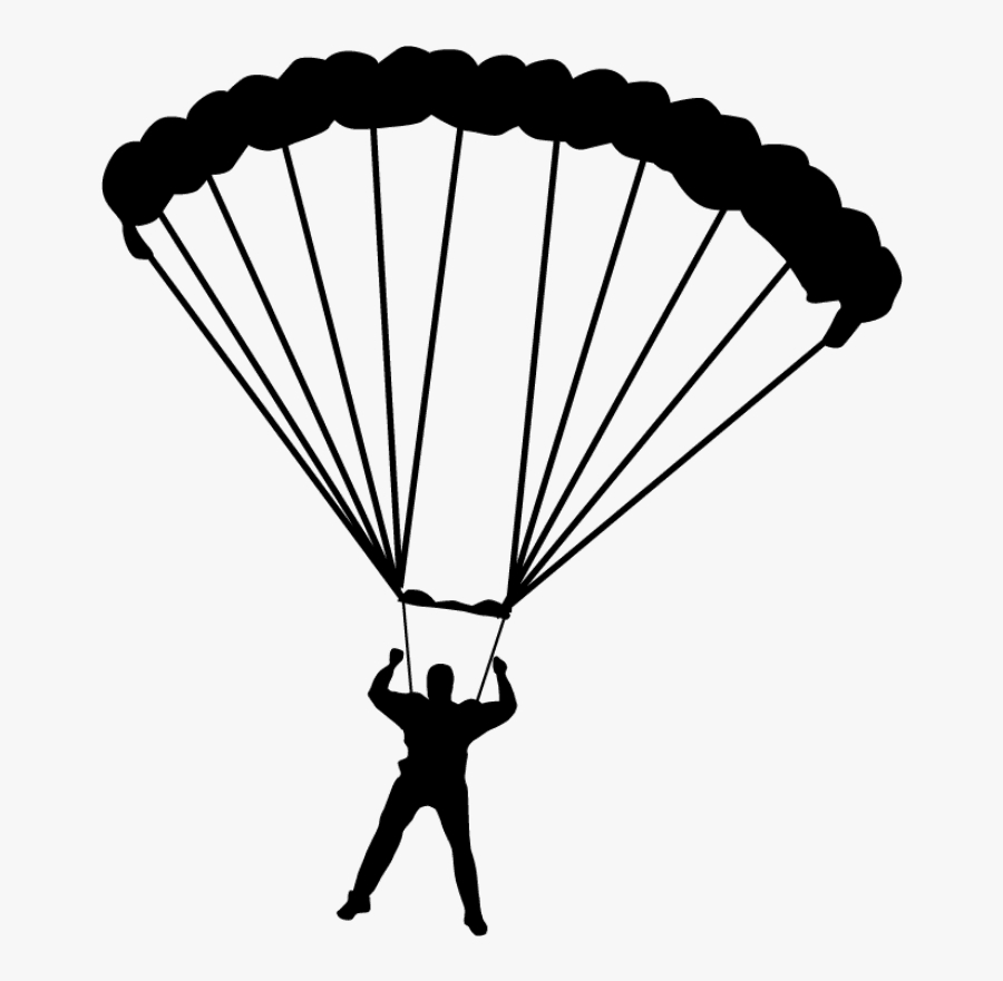 parachute parachuting drawing paratrooper drawing of a