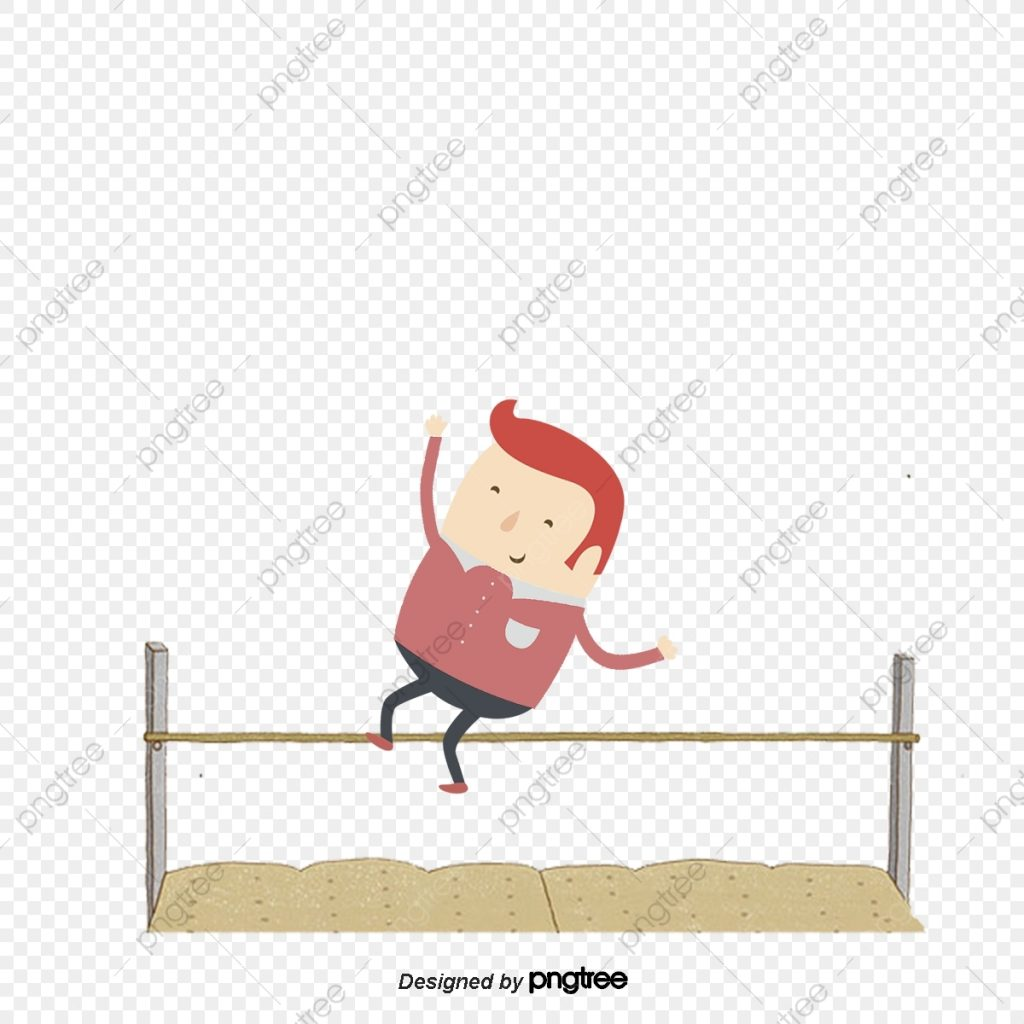 pe high jump character introduction figure vector png